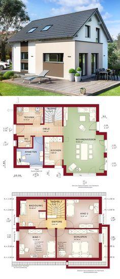Einfamilienhaus Neubau Klassisch Mit Satteldach Architektur U0026 Erker Anbau   Haus  Bauen Grundriss Modern Fertighaus Edition