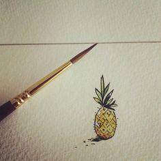 Image result for pineapple tattoo minimalist