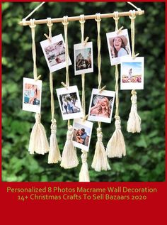 Personalized 8-Photo Macrame Wall Decoration will be both a nice gift and a very nice wall decoration for your loved ones or your own home. Product Content: 35 cm wide, 55 cm tall hanger with 65 cm macroe wall decoration, 8 photographs and photo pegs to be loaded. #customized #customized #familyphoto christmas crafts to sell bazaars Personalized 8 Photos Macrame Wall Decoration 14+ Christmas Crafts To Sell Bazaars 2020 Thanksgiving Activities, Thanksgiving Crafts, Thanksgiving Decorations, Thanksgiving Outfit, Thanksgiving Desserts, Thanksgiving 2020, Thanksgiving Side Dishes, Holiday Desserts, Holiday Baking