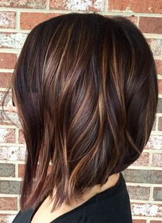 Hair color dark brown layers with spring hairstyles ideas 2018 balayage hair dark short, dark Popular Short Haircuts, Modern Haircuts, Medium Hair Styles, Long Hair Styles, Hair Medium, Medium Long, Spring Hairstyles, Wedding Hairstyles, Hairstyles 2016