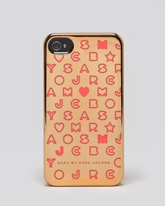 :: marc by marc jacobs . iphone 5 case - stardust metallic in rose gold