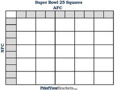 Super Bowl Pools Ideas super bowl pool button Printable Super Bowl Squares 25 Grid Office Pool