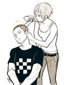 Saeko and Ryuu (by viria)