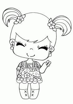 220 En Iyi Kız Boyama Sayfaları Girls Coloring Pages