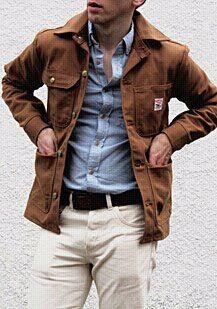 Loving this chore coat, any ideas who its by?