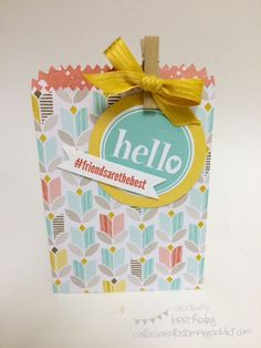 Mini Treat Bag Thinlit Project :: Confessions of a Stamping Addict Lorri Heiling