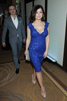 Sexy, Royal Blue, Actresses, Female, Woman, Film, Formal Dresses, Celebrities, Heels