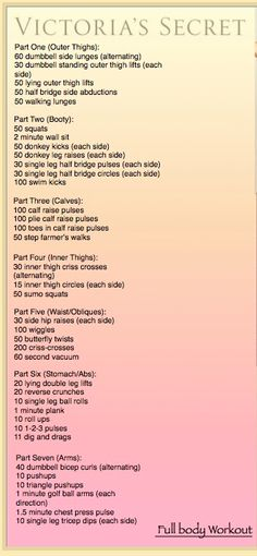 Victoria Secret Workout Full Body Exercise