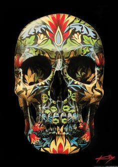 12 Skull art prints by Gerrard King