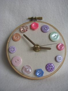 button clock - would it be weird to also paint the hands with glow in the dark paint?  REALLY want to be able to know what time it is in the nursery.