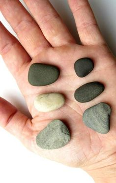 Smooth sedimentary stones are easy to drill for jewelry making!