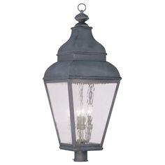 Livex Lighting 2608 Exeter Post Light with 4 Lights Charcoal Outdoor Lighting Post Lights Single Head Post Lights Lantern Post, Led Lantern, Outdoor Wall Lantern, Lanterns, Livex Lighting, Outdoor Lighting, Lighting Design, Fence Lighting, Outdoor Post Lights