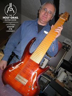 Exhibitor at The Holy Grail Guitar Show 2014: Günter Eyb, Eyb Guitars, Germany www.eyb-guitars.eu www.facebook.com/EybGuitars http://holygrailguitarshow.com