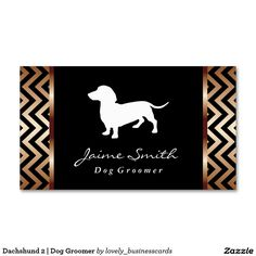 Dachshund 2 | Dog Groomer Standard Business Card #fancybusinesscards #doggrooming #doggroomer