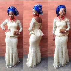 Cheap lace evening dresses, Buy Quality evening dress directly from China evening dress fashion Suppliers: 2017 Lace Evening Dress Mermaid Nigeria Style Fashion Formal Wear Sweep Train Off The Shoulder African Prom Dresses Plus Size African Prom Dresses, African Dresses For Women, African Attire, African Wear, African Women, African Fashion, Nigerian Fashion, Ghanaian Fashion, Aso Ebi Dresses