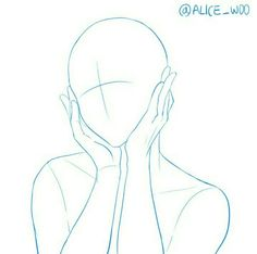 Anatomy Drawing Reference Hands On Face Pose Body Drawing, Drawing Base, Anatomy Drawing, Manga Drawing, Body Sketches, Drawing Sketches, Art Drawings, Drawing Templates, Manga Poses