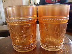 Set of 2 Carnival Glass
