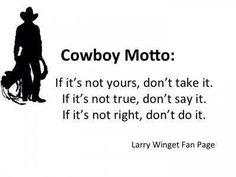 Cowboy Motto