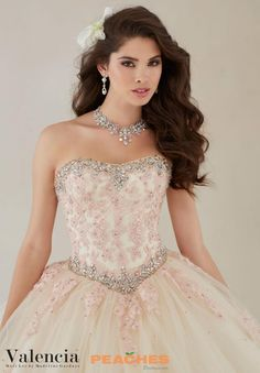 Strapless Vizcaya Quinceanera Gown 89086