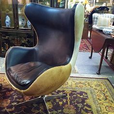 This fun and unique chair is a great statement piece! #furniture #chairs #Buckhead