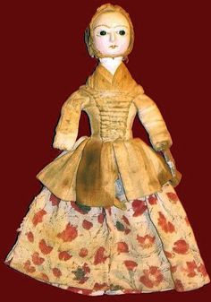 A SMALL WOODEN DOLL CA.1760.