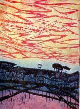 """Деревья у моря"" -  1965 - Тадасигэ Оно Painting, Art, Art Background, Painting Art, Kunst, Paintings, Performing Arts, Painted Canvas, Drawings"