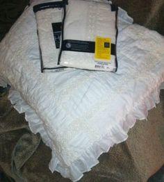 SFERRA Marbella Euro Sham Cotton Voile and Cotton Percale