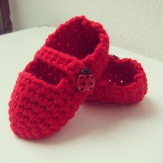 Merceditas Rojas para bebé.  Lana Merino