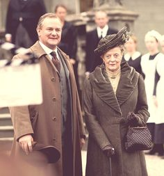 Hugh Bonneville and Maggie Smith