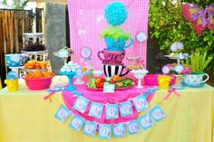 """Welcome to KROWN KREATIONS & CELEBRATIONS! Your guests are going to be simply """"Mad"""" over the newest party collection featuring our Mad Hatter Tea Party inspiration. The colors and graphics in this col"""