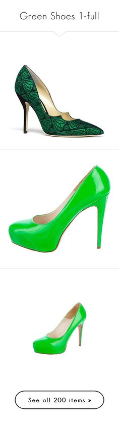 """""""Green Shoes 1-full"""" by franceseattle ❤ liked on Polyvore featuring shoes, pumps, heels, green, patent pumps, green patent shoes, brian atwood pumps, green patent leather pumps, green patent leather shoes and brian atwood"""