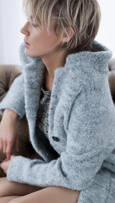 Line coat Knit-ted