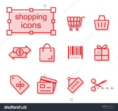 icons set - Shopping Photo by thesomeday123 on Shutterstock
