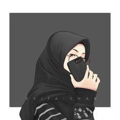 Muslimah Cartoon Girl Images, Cute Cartoon Girl, Anime Girl Cute, Cute Muslim Couples, Muslim Girls, Hijabi Girl, Girl Hijab, Muslim Pictures, Dp Pictures