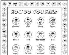 How Do You Feel?  emotions activity set