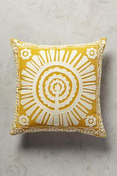 Living Room: Full Sun Pillow - anthropologie.com