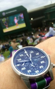 Chronograph Modern from Maurice de Mauriac at the 2016 Wimbledon Championship. Bespoke watches for men and women.