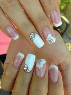 5 Unavoidable Floral Nail Art for Short Nails : Take a look! Your short nail deserves some amazing nail art design and Color. So, regarding that, we have gathered some lovely Floral Nail Art for Short Nail suggestions only for you. Bridal Nails Designs, Fall Nail Art Designs, Wedding Nails Design, Wedding Guest Nail Designs, Wedding Gel Nails, Beach Wedding Nails, Cute Nails, Pretty Nails, Floral Nail Art