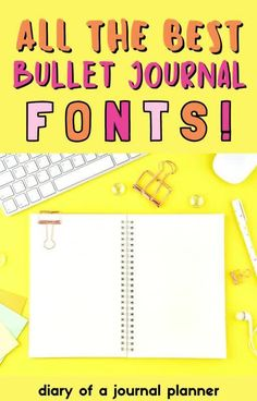 The best bullet journal fonts for you to try out on your next daily spread! #bulletjournalfonts #calligraphy Bullet Journal Hand Lettering, Journal Fonts, Journal Writing Prompts, Bullet Journal Printables, Hand Lettering For Beginners, Hand Lettering Practice, Hand Lettering Quotes, Bullet Journal For Beginners, Improve Your Handwriting