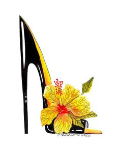 Floral Shoe Fashion Illustration