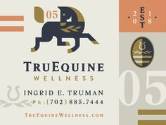 TruEquine by Gardner Design on Dribbble Graphic Design Posters, Modern Graphic Design, Graphic Design Typography, Branding Design, Logo Inspiration, Badge Design, Book Design, Design Design, Visual Identity