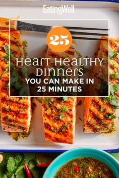 25 Heart-Healthy Dinners You Can Make in 25 Minutes Heart Healthy Diet, Heart Healthy Recipes, Healthy Foods To Eat, Healthy Eating, Stay Healthy, Healthy Fats, Healthy Dinners, Healthy Cooking Recipes, Heart Healthy Breakfast