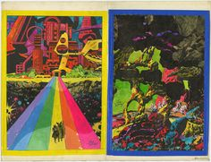 One piece of paper, two amazing color works by Jack Kirby.On...