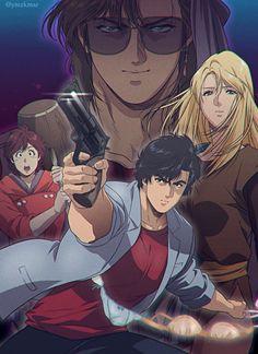 Film Anime, Manga Anime, Nicky Larson, Hunter Anime, Private Eye, City Hunter, Comic Art, Concept Art, Fan Art