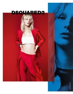 Julia Bergshoeff for DSquared2 SS 2015 Campaign by Mert & Marcus