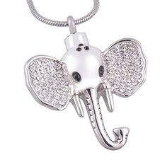 Eternally Elephant Urn Necklace for Ashes of Dog Cremation Pendant for Memorial Pet Necklace Keepsake by Eternally Loved -- Awesome products selected by Anna Churchill