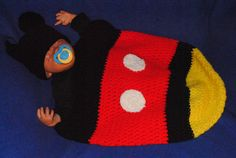 Mickey Mouse baby Cocoon Crochet PATTERN by ContessaCreationsToo