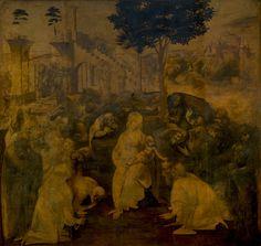 Leonardo Da Vinci - Adoración de los Magos 1481 (3856×3656)
