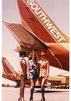 1970's southwest airlines second uniform....loved that summer apron. THE FINEST FELT HAT that we were REQUIRED to were coming and going to flights. BUT, not on the plane. 1. Someone all ways said: opps, lady I smushed your hat in the overhead bend. reply: Oh thats ok, have some peanuts? 2. Hair was big, hair was final net hair sprayed. Results, when you took off the hat you had a built in halo, headband or double bubble hair do hall of shame. #aviationhumorraybans
