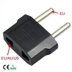 1Pcs Universal Travel US or EU to EU AC Plug Adapter Converter USA to Euro Europe Wall Power Charge Outlet Sockets